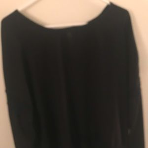 Target black top tunic  with lace detail